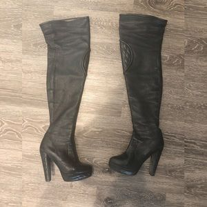 Barbara Bui Leather Over Knee Boots Made in Italy
